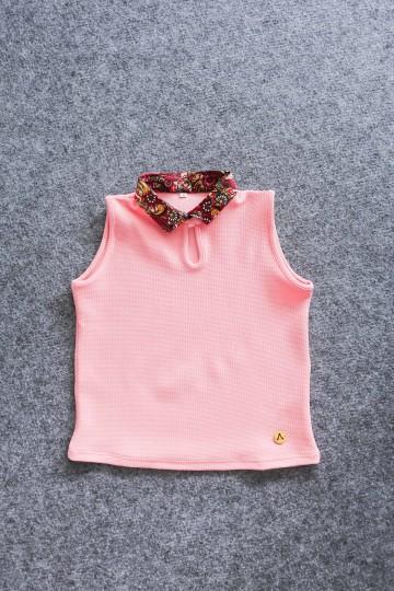 Finbell Semi Crop Top Carnelian Pink