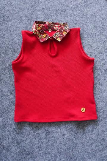 Finbell Semi Crop Top Carnelian Red