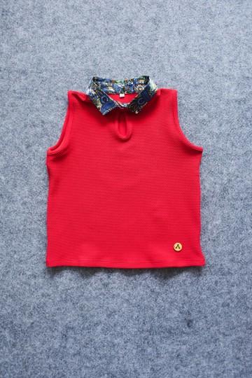 Finbell Semi Crop Top Azura Red