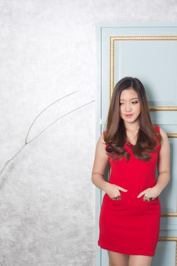 Vlare Dress Carnelian Red