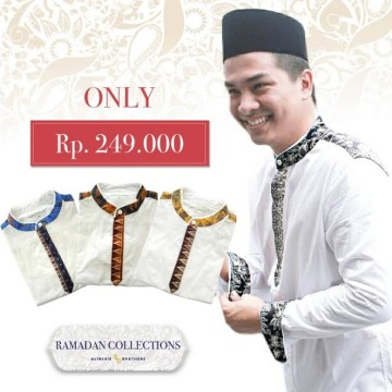 Baju Koko Berry white - Alinskie Brothers - KBR001