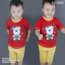 Kaos Anak - Baju Setelan Anak Laki Laki - Setelan Main - Summer