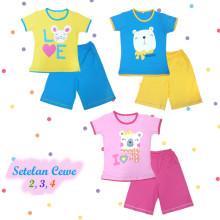 Kaos Anak - Baju Setelan Anak Perempuan - Setelan Main