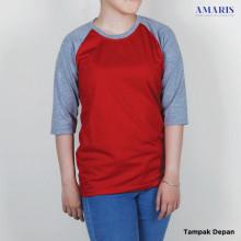 Amaris Raglan Warna - Lengan 3/4 - Unisex