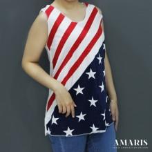 Singlet Wanita - Singlet Motif Bendera - Bendera1 - Amaris Fashion