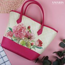 Amaris Handbags - Tas Anyaman - Motif Rose - Besar