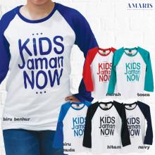 Kaos Cewek - Kaos Lengan Panjang Putih - Kids Jaman Now - Amaris Fashion