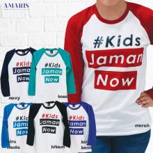 Kaos Cewek - Kaos Lengan Panjang Putih - Kids Jaman Now 2 - Amaris Fashion