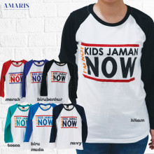 Kaos Cewek - Kaos Lengan Panjang Putih - Kids Jaman Now 3 - Amaris Fashion