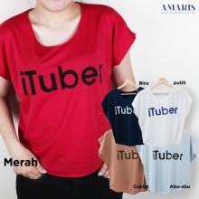 Amaris Kaos Atasan - Crop iTuber - Kaos Cewek