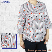 Blouse Kimono Wanita - Baju Atasan Wanita - Motif Bunny - Kimono #e21