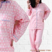 Piyama Cewek - Baju Tidur - Motif Bunny Pink - Amaris Fashion