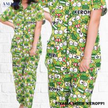 Piyama Cewek - Baju Tidur - Motif Keroppi - Amaris Fashion