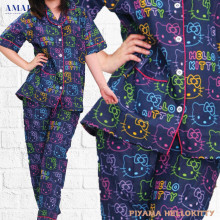 Piyama Cewek - Baju Tidur - Motif Hello Kitty - Amaris Fashion