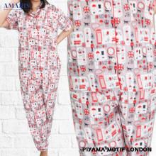 Piyama Cewek - Baju Tidur - Motif London - Amaris Fashion