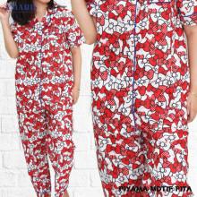 Piyama Cewek - Baju Tidur - Motif Pita - Amaris Fashion