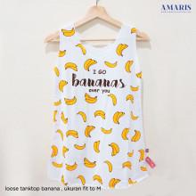 Amaris Singlet Banana - Kaos Banana - Banana Kekinian - Motif Bananas