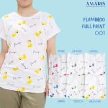 Amaris Tshirt Flamingo - Kaos Atasan - Flamingo 001