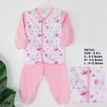 Amaris Piyama Bayi - Setelan Bayi - Pink Rabbit - Baju Tidur Bayi