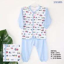 Amaris Piyama Bayi Little Digger - Biru Muda - Baju Bayi
