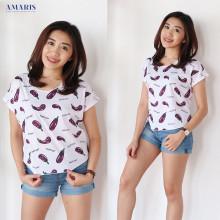 Kaos Atasan - Crop Top Eggplant - Amaris Fashion