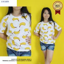 TERLARIS - Best Quality - Kaos Banana Anak Lengan Pendek Umur 2-12 Tahun - Premium Produk