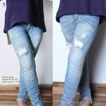 Amaris Fashion - Celana Jeans Ripped/Sobek Anak Perempuan Murah