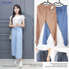 Amaris Fashion - Celana Kulot Polos Wanita - Celana Santai Murah