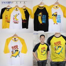 Amaris Fashion - Sale Kaos Raglan Banana - Baju Atasan Murah