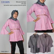 Amaris Fashion - Blouse Free Belt - Atasan Wanita Murah