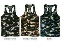 Amaris Fashion - Tanktop Army - Singlet Motif Army Murah