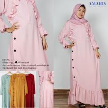 Amaris Fashion - Dress Gamis 990 Rempel Dada Cantik Murah