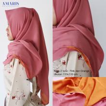 Amaris Fashion - Jilbab Segiempat 2 Warna - Hijab Murah
