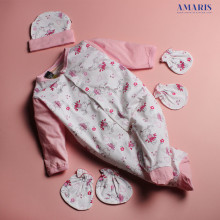 Amaris Fashion - Set Jumpsuit Baby Girl Motif Rabbit - Piyama Bayi Murah