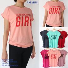 Amaris Fashion - Batwing Tshirt Extraordinary Girl - Kaos Kalong Atasan Wanita