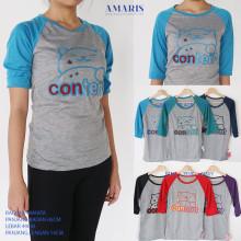 Amaris Fashion - Raglan 3/4 Tshirt Tumblr Content - Kaos Atasan Wanita