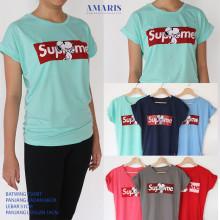 Amaris Fashion - Tumblr Tee / Kaos Supreme - Tshirt Batwing