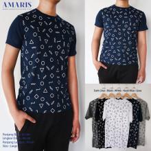 Amaris Fashion - Kaos Pria Pola Geometri - Tshirt Pria Fullprint - Kaos Tumblr