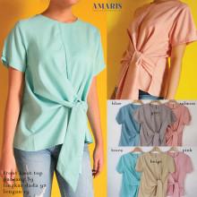 Amaris Fashion - Blouse Front Knot Top / Blouse Wanita - Baju Atasan