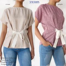 Amaris Fashion - Kimono Style Top / Blouse Atasan Wanita - Baju Wanita