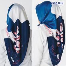 Amaris Fashion - Hijab Umama Scraft Satin Velvet Silk - Jilbab Segiempat Murah