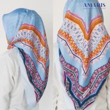 Amaris Fashion - Hijab Satin Velvet Azara - Jilbab Segiempat Murah Satin Silk