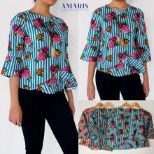 Amaris Fashion - Blouse Mawar - Blouse Batik - Baju Atasan Wanita