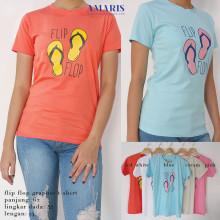 Amaris Fashion - Tumblr Tee Wanita/Tshirt Flip Flop - Kaos Wanita