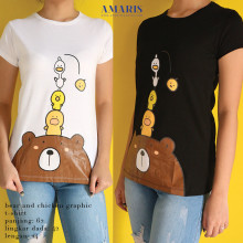 Amaris Fashion - Tshirt Brown - Kaos Atasan Wanita Kekinian
