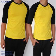 Amaris Fashion - Raglan 3/4 Lengan Hitam Badan Warna - Koas Raglan Unisex