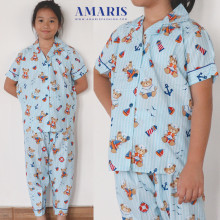 Amaris Fashion - Baju Piyama Anak Teddy Bear - Pajamas Baju Tidur Anak