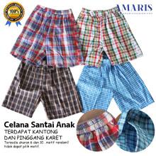 Amaris Fashion - SALE MURAH BERKUALITAS / BEST SELLER - TERLARIS Celana Pendek Anak Kotak Unisex