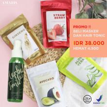 Amaris Fashion - Promo Paket Hair Tonic dan Hair Mask - Paket Hemat