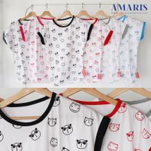 Amaris Fashion - Kaos Kalong / Batwing Tshirt - Kaos Atasan Wanita Motif Panda Fullprint